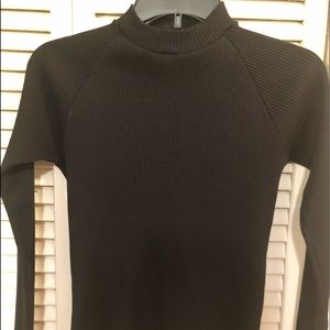 Tops - Perfect Tight Black Sweater back zipper, sexy!